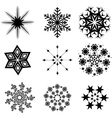 Snowflacke collection vector image