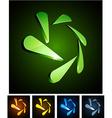 Snowflake vibrant emblems vector image vector image