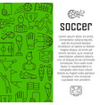 soccer banner design concept with thin vector image