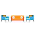 sofa and chair office living room couch relax vector image vector image