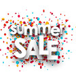 summer sale background with confetti vector image vector image