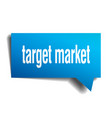 target market blue 3d speech bubble vector image vector image