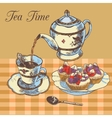Teapot and cup english tea vector image vector image