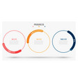 thin line progress bar with 3 steps circles vector image