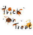 trick or treat words background vector image