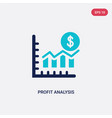 two color profit analysis icon from business and vector image vector image