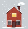 very nice house in scandinavian norwegian vector image vector image