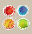 watercolor colorful stain with white lines vector image