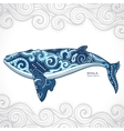 Whale with tribal ornaments vector image vector image