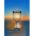 wine glass sunset vector image vector image