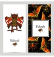 Witchcraft Magic Banner Set vector image vector image
