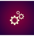 Gears icon Flat design style vector image