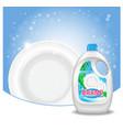 dishwashing liquid products ad 3d vector image