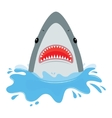 shark with open mouth vector image