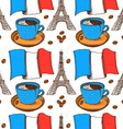 Sketch French pattern in vintage style vector image