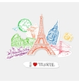 Travel Paper Stickers Set vector image