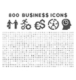 800 flat business icons vector image vector image