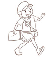 A smiling postman vector image