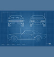 blueprint of retro car american automobile vector image