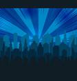 comic blue cityscape concept vector image vector image