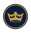 crown golden vector image