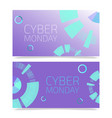 cyber monday templates set of vector image