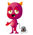 devil on charging on white background vector image vector image