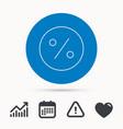 Discount percent icon sale sign