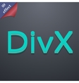 DivX video format icon symbol 3D style Trendy vector image
