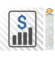 financial report flat icon with bonus vector image