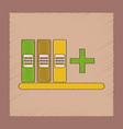 flat shading style icon shelf folder vector image vector image