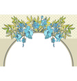 flowerframe vector image vector image