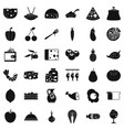 gastronomy icons set simple style vector image vector image