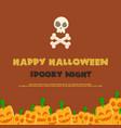 halloween night party background pumpskin vector image vector image