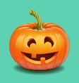 halloween pumpkin face - funny smile jack o vector image vector image