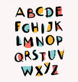 hand drawn letters stylish alphabet trendy abc vector image vector image