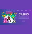 happy lucky man winner hit jackpot at casino vector image