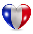 Heart shaped icon with flag of France vector image vector image