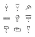 icon set working tools vector image