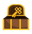 isolated treasure chest design vector image vector image
