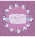 lovely beautiful yummy blueberry cupcake vector image vector image