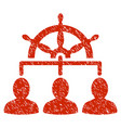 management steering wheel grunge icon vector image vector image