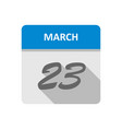 march 23rd date on a single day calendar