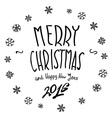 Merry Christmas black glittering lettering design vector image vector image