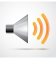 Metal loudspeaker isolated vector image vector image