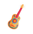mexican guitar icon vector image vector image