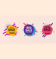 modern abstract trendy sale design set vector image vector image
