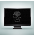 monitor code skull vector image vector image