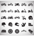 motorcycle icons set on white background for vector image