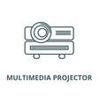 multimedia projector line icon linear vector image vector image